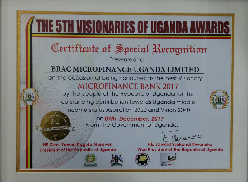 Uganda-Best-Visionary-Microfinance-Bank-2017-cirtificate