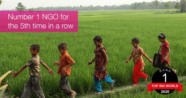 BRAC ranked #1 NGO in the world for the fifth consecutive year